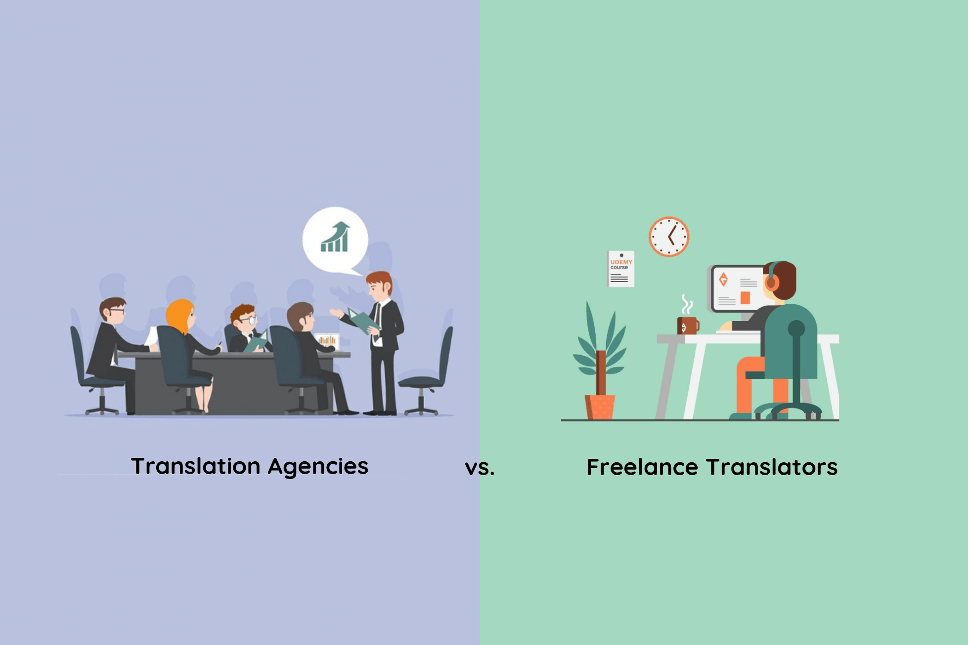 Translation Agencies vs Freelance Translators