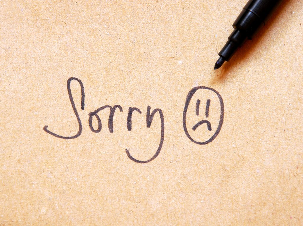 Say sorry in Asian languages
